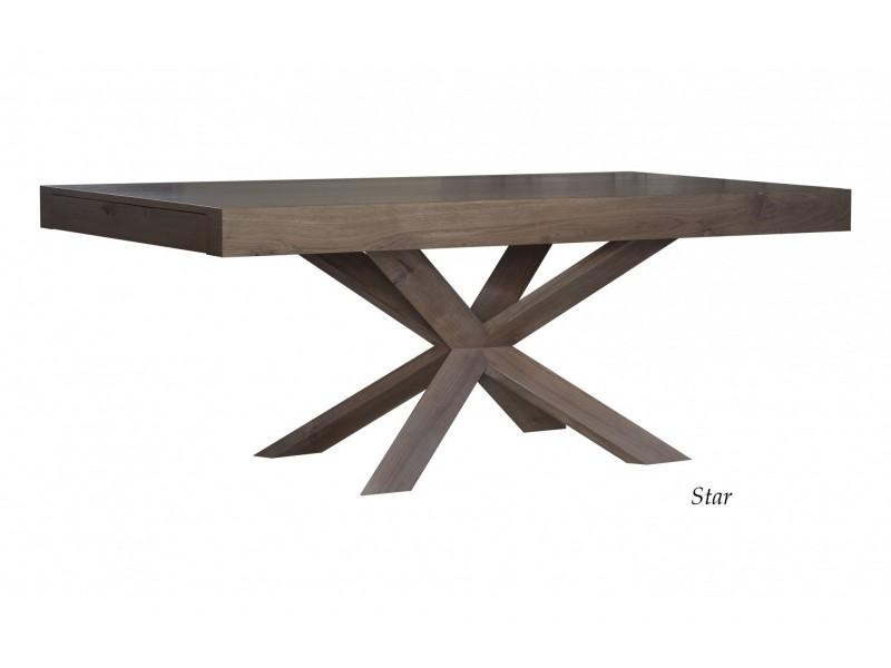 Τραπεζαρία STAR 2 με 2 προεκτάσεις από ξύλο δρυ
